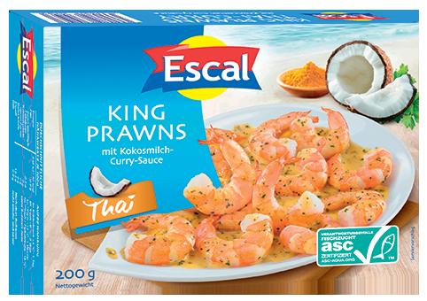 King Prawns Thai, ASC-zertifiziert, Mit Kokosmilch-Curry-Sauce, roh