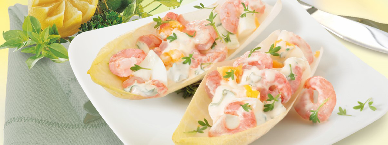 Frischer Shrimps-Salat