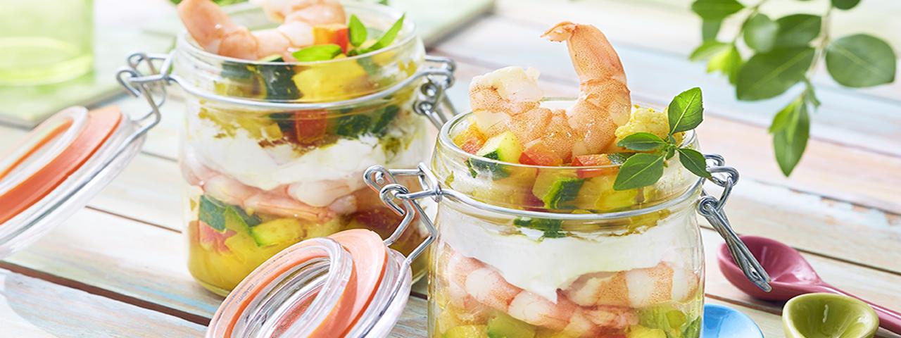 Fruchtiger Garnelen Salat