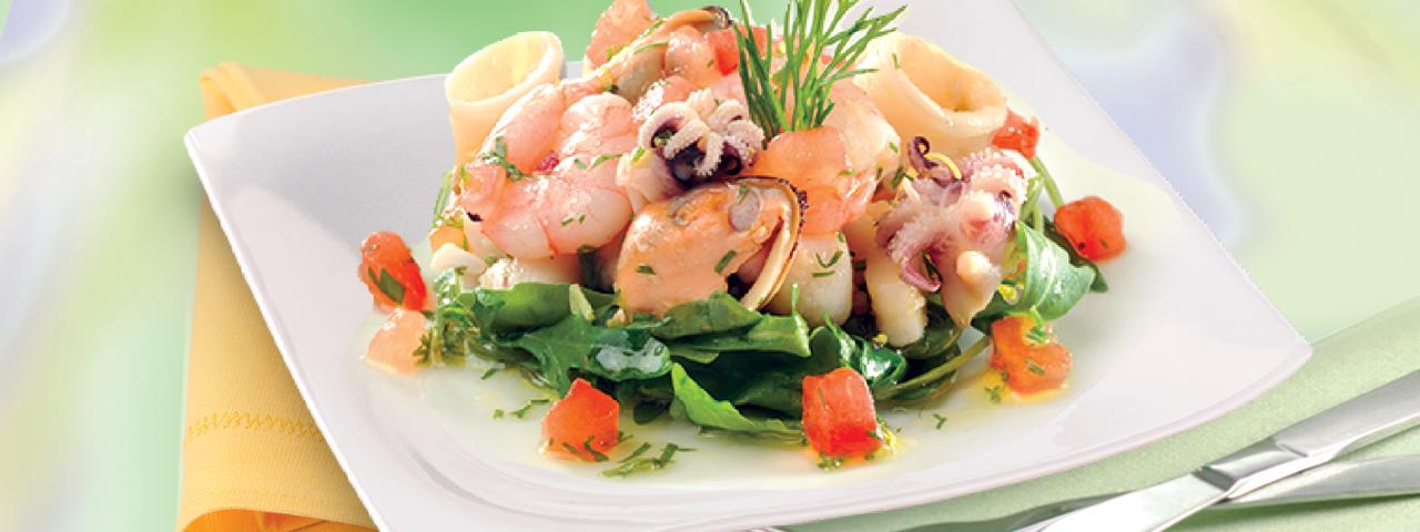 Meeresfrüchte Salat