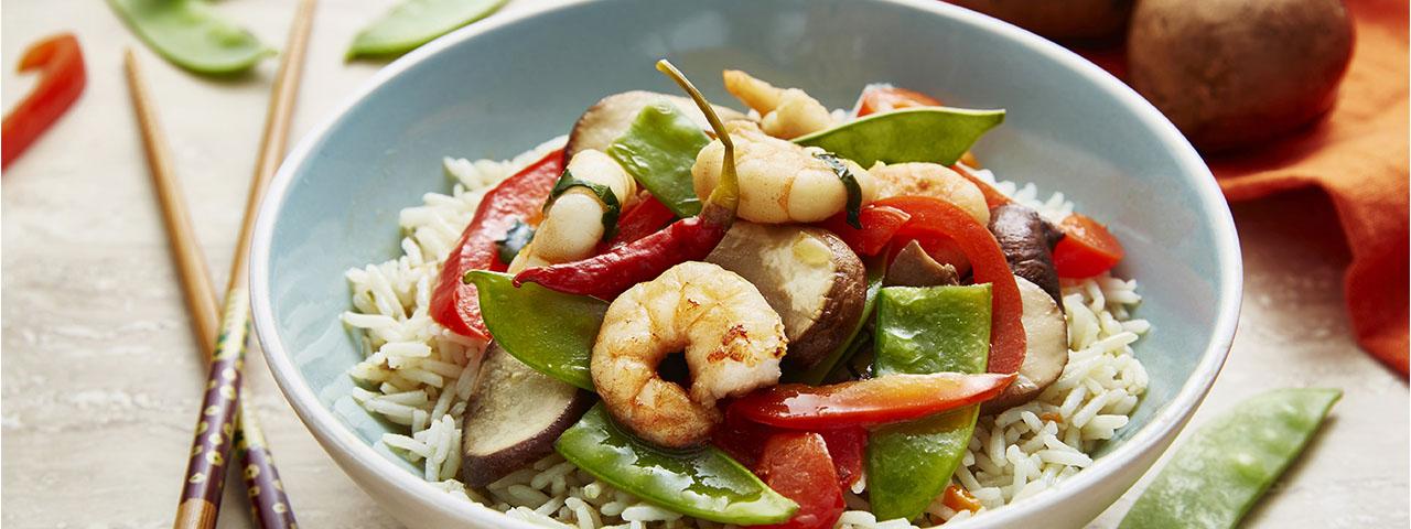 Garnelen mit Asia Gemüse