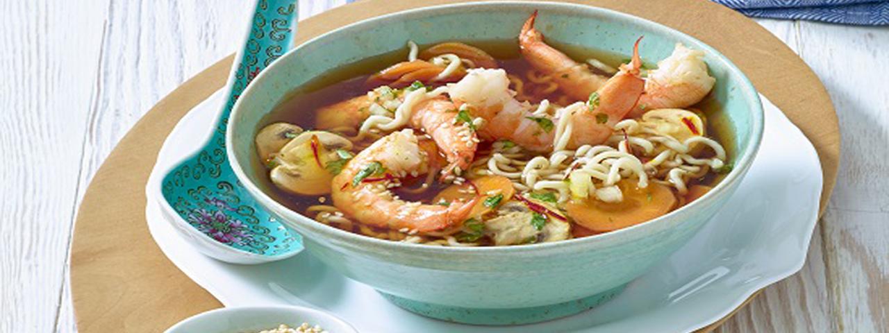 Chinesische Garnelen Suppe