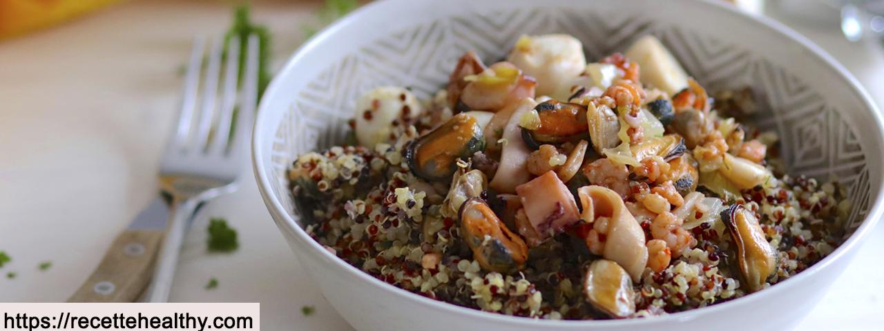 Quinoa-Meeresfrüchte Traum