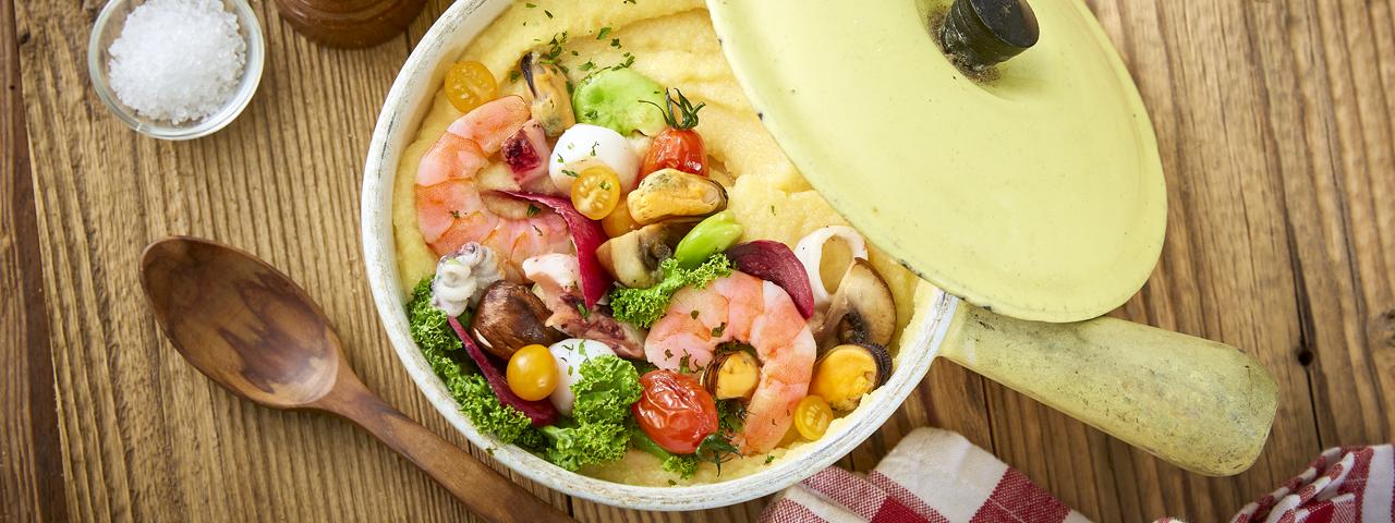 Frutti-di-Mare-Gemüse-Püree