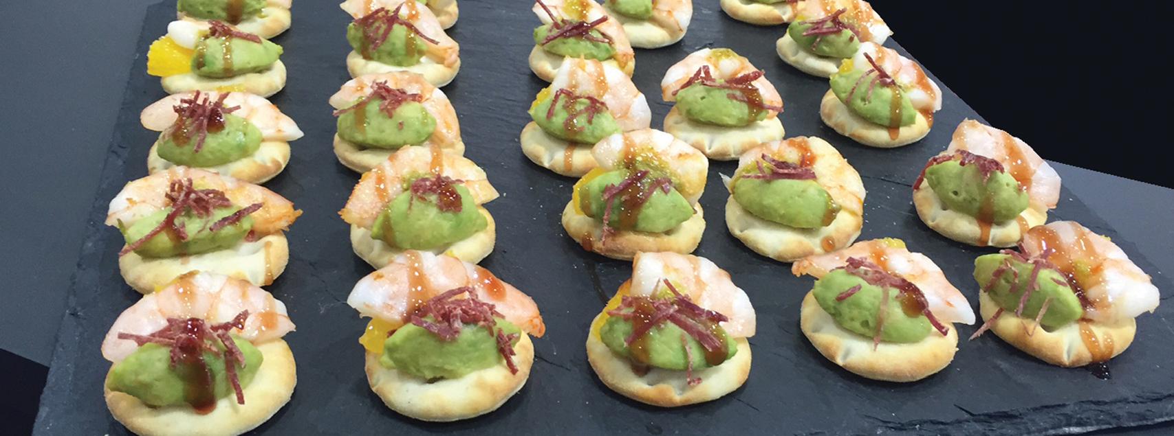 Mini-Sandwiches mit Garnelen