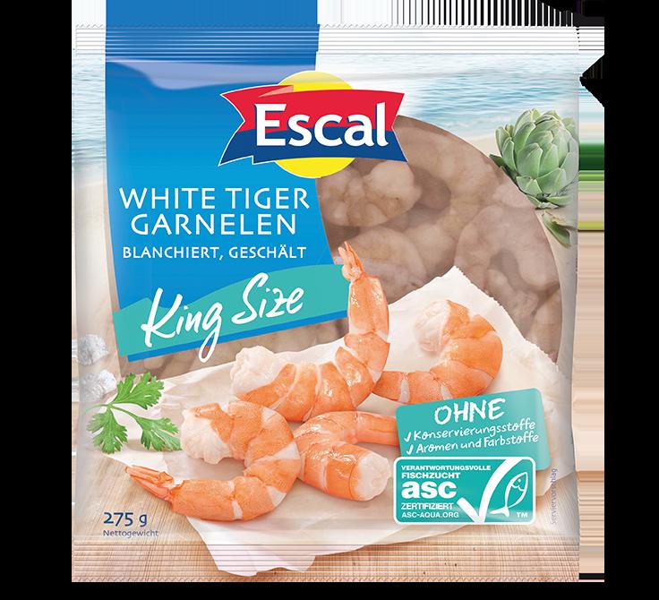 White Tiger Garnelen King Size