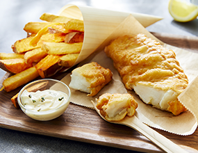 Kabeljau Fish & Chips