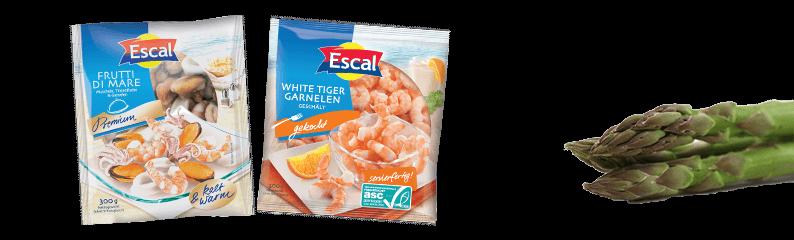 Seafood-Gerichte für Spargel-Fans