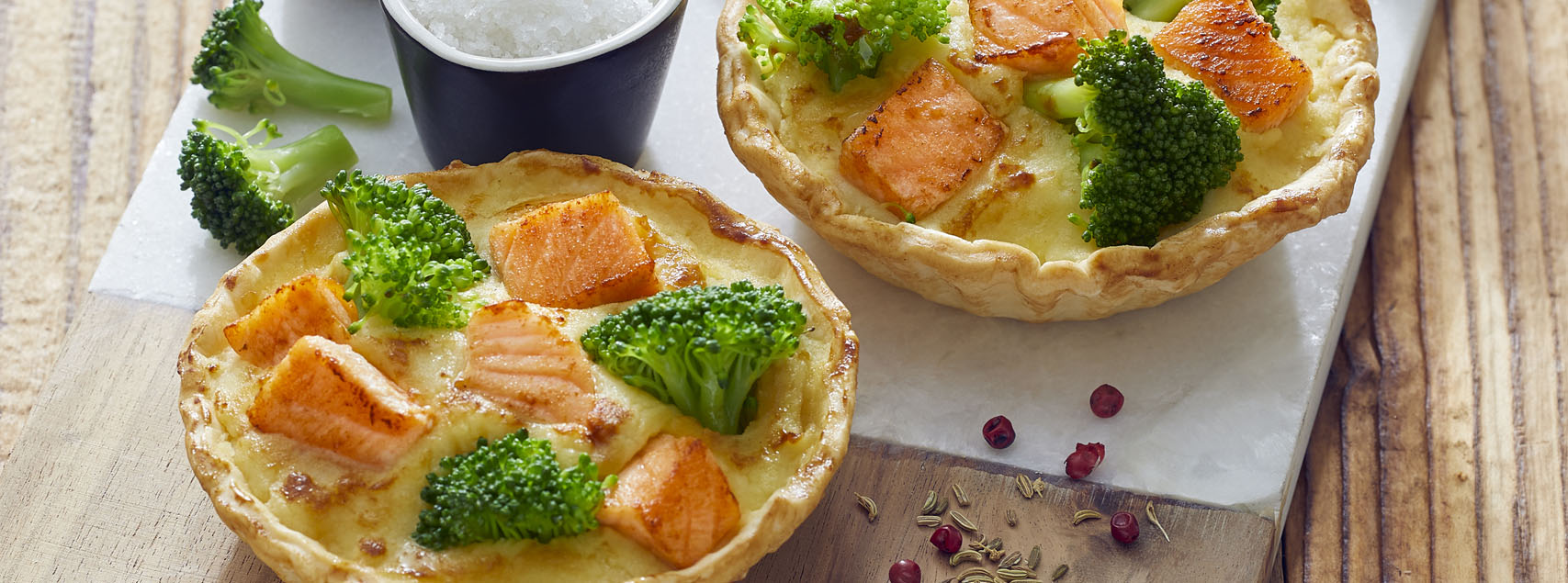 Lachs-Broccoli Quiche