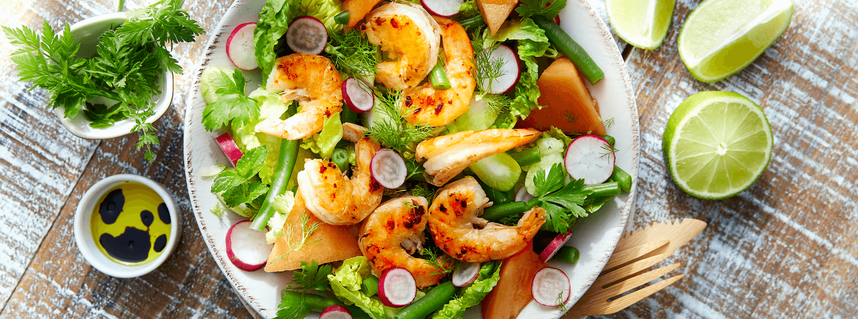 Sommerlicher King Prawns-Salat